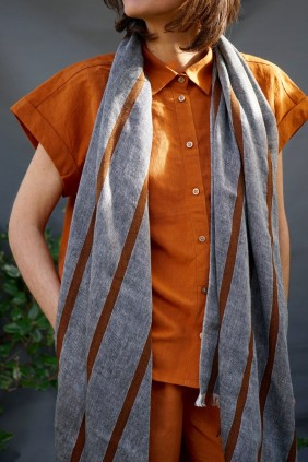 scarf stole handwoven cotton ethical fashion organic  accessories artisan
