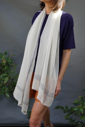 summer spring linen cotton handwoven natural fiber scarf stole accessories