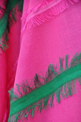 scarf cotton fringes silk accessories spring summer upside down fuchsia green